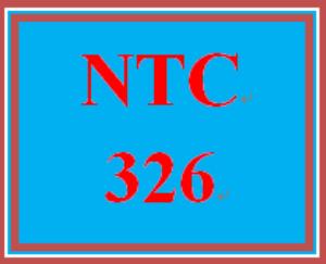 ntc 326 week 1 individual: configuration scenario