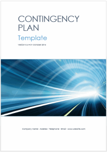 contingency plan templates (ms word + excel)