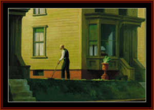 pennsylvania coal town - edward hopper cross stitch pattern by cross stitch collectibles