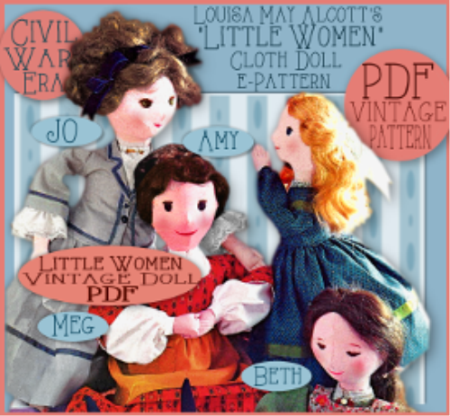 First Additional product image for - Sew 4 Little Women Dolls!