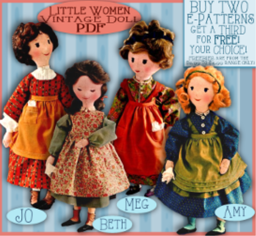 Second Additional product image for - Sew 4 Little Women Dolls!