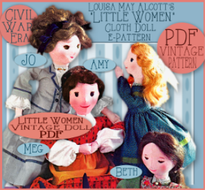 sew 4 little women dolls!
