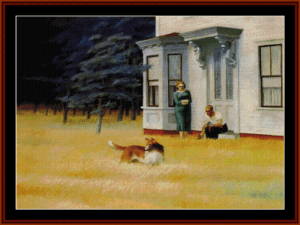Cape Cod Evening, 1939 - Edward Hopper cross stitch pattern by Cross Stitch Collectibles | Crafting | Cross-Stitch | Wall Hangings