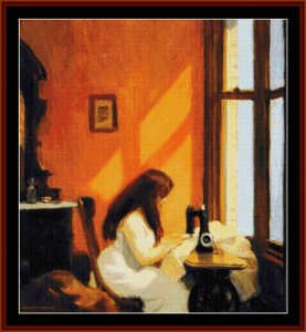 Girl at Sewing Machine - Edward Hopper cross stitch pattern by Cross Stitch Collectibles | Crafting | Cross-Stitch | Wall Hangings
