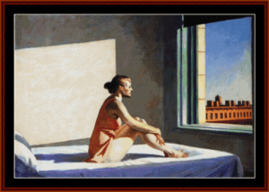 morning sun - edward hopper cross stitch pattern by cross stitch collectibles