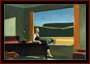 western motel - edward hopper cross stitch pattern by cross stitch collectibles