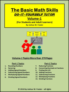 basic math skills diy-tutor vol-1