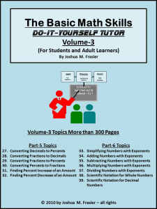 Basic Math Skills DIY-Tutor Vol-3 | eBooks | Self Help