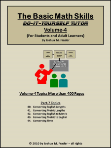 basic math skills diy-tutor vol-4