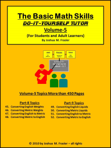 basic math skills diy-tutor vol-5
