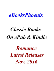 eBooksPhoenix Classic Books Romance Nov. 2016 | eBooks | Romance
