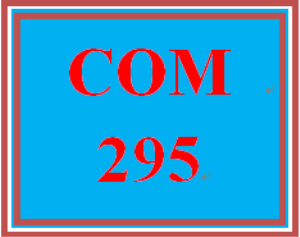 COM 295 Week 2 Definition Assignment | eBooks | Education