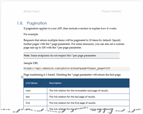 Fourth Additional product image for - REST/Web API Documentation Template (MS Word)