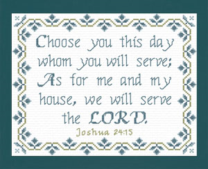We Will Serve The Lord 2 | Crafting | Cross-Stitch | Religious