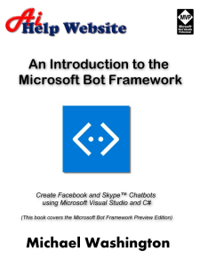 An Introduction to the Microsoft Bot Framework | eBooks | Computers