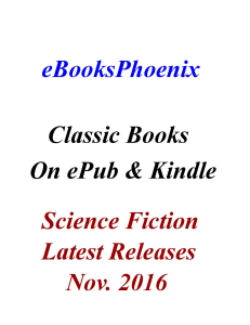 eBooksPhoenix Classic Books Science Fiction Nov. 2016 | eBooks | Science Fiction