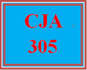 cja 305 week 5 week five worksheet