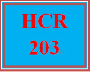 HCR 203 Week 1 Week One Worksheet | eBooks | Education