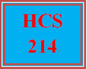 HCS 214 Entire Course | eBooks | Education