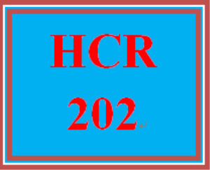 HCR 202 Entire Course | eBooks | Education
