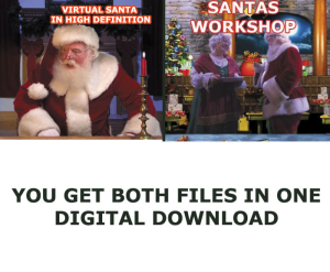 virtual santa and santas workshop in high definition