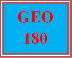 GEO 180 Week 1 Course Preparation Activity | eBooks | Education