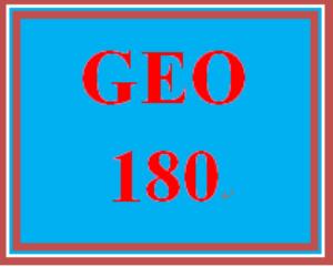 GEO 180 Entire Course | eBooks | Education