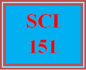 SCI 151 Entire Course | eBooks | Education