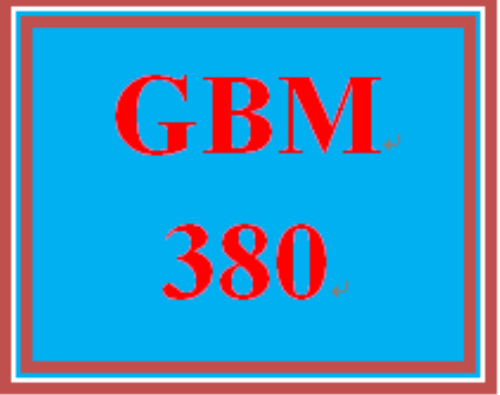 First Additional product image for - GBM 380 Week 1 Globalization