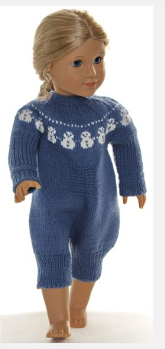 First Additional product image for - DollKnittingPattern 0160D HEDDA - Suit, hat and socks/shoes-(English)