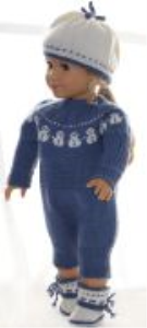 dollknittingpattern 0160d hedda - suit, hat and socks/shoes-(english)