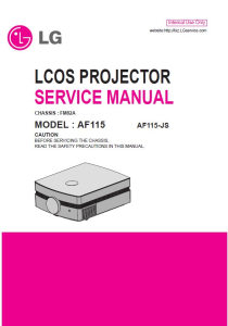LG AF115 Projector Factory Service Manual & Repair Guide | eBooks | Technical