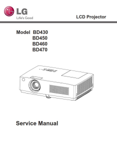LG BD430 BD450 BD460 BD470 Projector Factory Service Manual & Repair Guide | eBooks | Technical