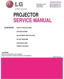 lg bx286 projector factory service manual & repair guide