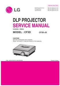 lg cf3d projector factory service manual & repair guide
