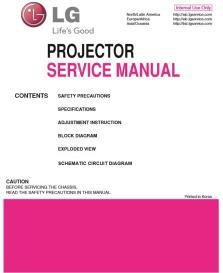 lg hw300g hw301g projector factory service manual & repair guide