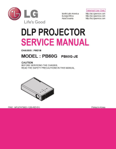 LG PB60G Projector Factory Service Manual & Repair Guide | eBooks | Technical