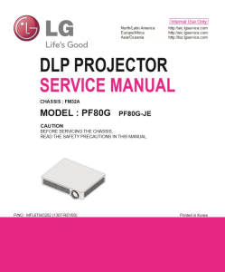 LG PF80G Projector Factory Service Manual & Repair Guide | eBooks | Technical