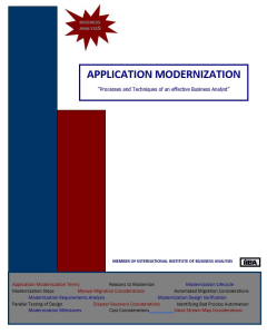 Application Modernization - QRG | Documents and Forms | Business