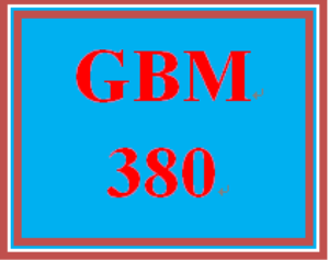 GBM 380 Entire Course | eBooks | Education