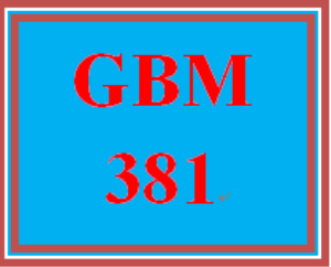 GBM 381 Week 2 Due Diligence | eBooks | Education