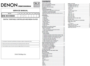 denon dn-sc3900 media player controller service manual