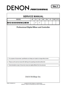 denon mc6000mk2 dj mixer and controller service manual