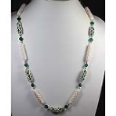 Encased Crystals-with Carved White Bone Beads and Toggle  Necklace-Pattern only | eBooks | Arts and Crafts