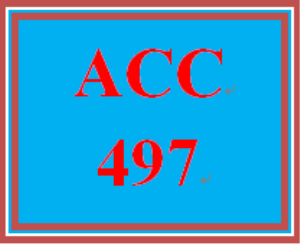 ACC 497 Entire Course | eBooks | Education