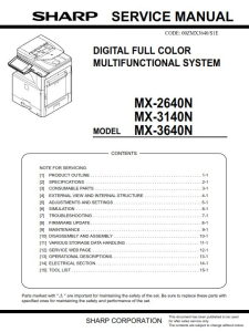 Sharp MX 2640N 3140N 3640N Full Service Manual Download | eBooks | Technical