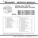 Sharp MX 4112N 5112N Full Service Manual Download | eBooks | Technical