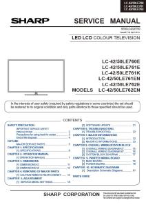 Sharp LC 50LE761E 50LE761EN 50LE761K Service Manual & Repair Guide | eBooks | Technical