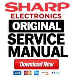 sharp ld 26sh3u service manual & repair guide