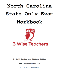 north carolina real estate exam state only workbook